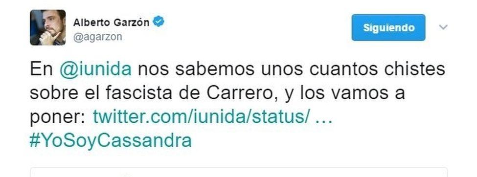 IU Twitter Carrero Blanco condenada EDIIMA20170329 0623 3 - EN ESPAÑA ES PELIGROSO HABLAR DE LA DICTADURA DE FRANCO: IU desafía a la Audiencia Nacional...