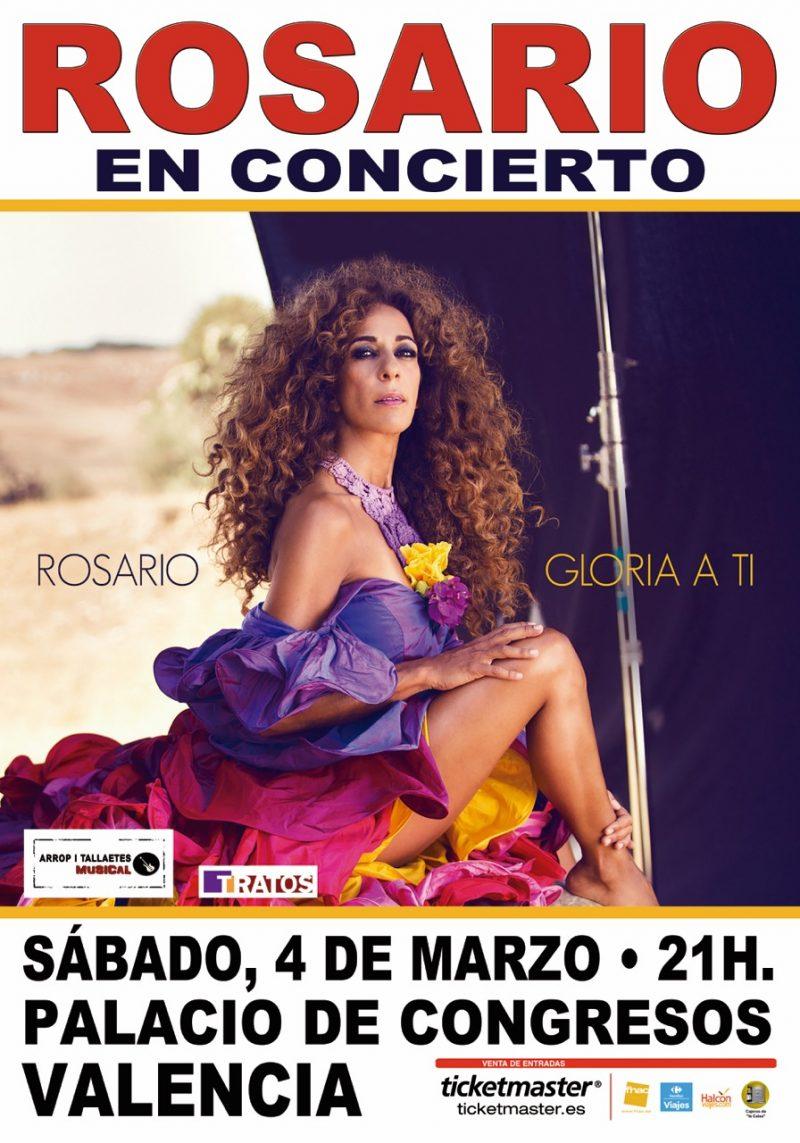 Rosario presenta su nuevo disco en Valencia el 4 de Marzo 1