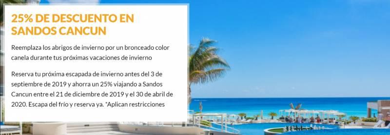 Sandos Hoteles - Nuevas ofertas - escapada de invierno Mexico