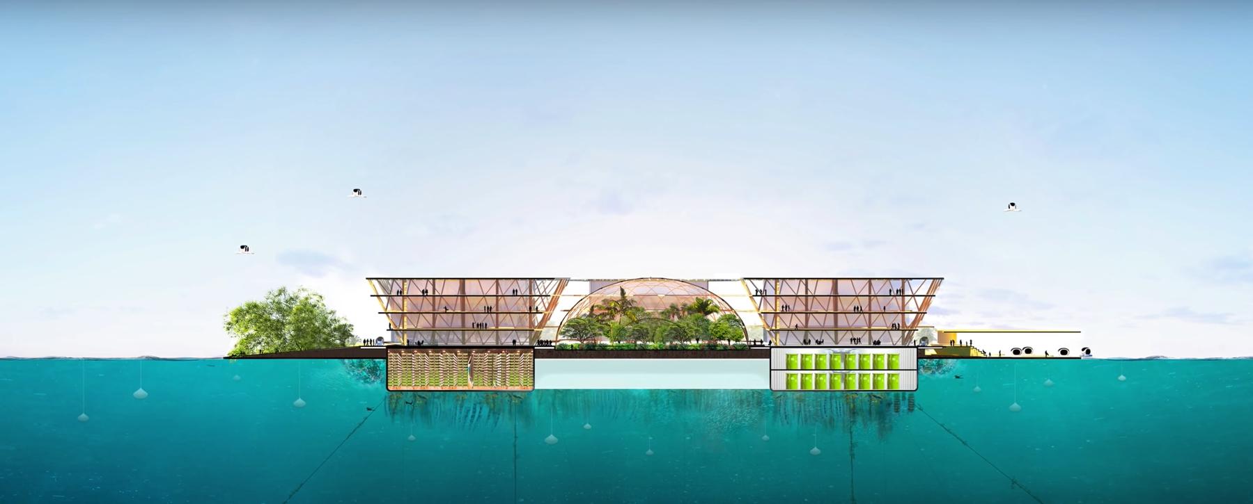 ciudad oceanix: la ciudad flotante en el mar 3