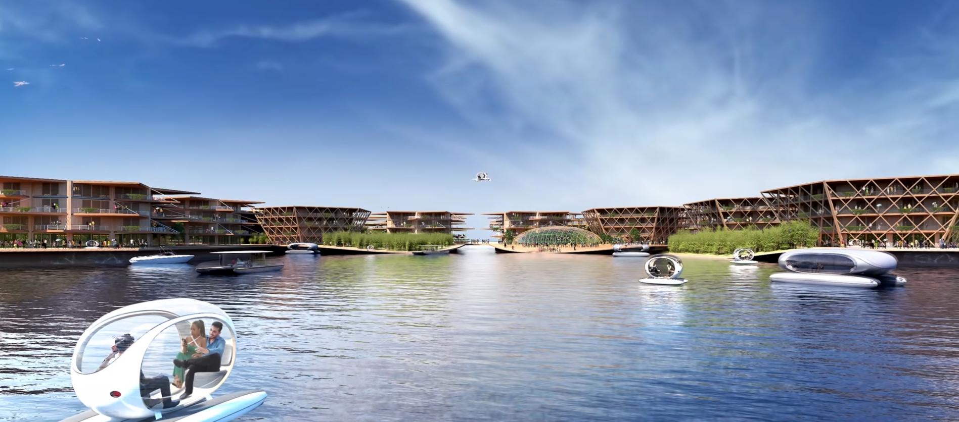ciudad oceanix: la ciudad flotante en el mar 1