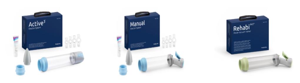 Bomba de vacio:  Dispositivo médico que mejora la disfunción erectil.
