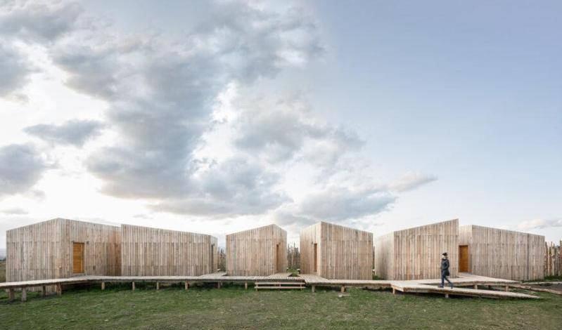 aka patagonia hotel, hecho con materiales de construccion de bajo impacto ambiental 3