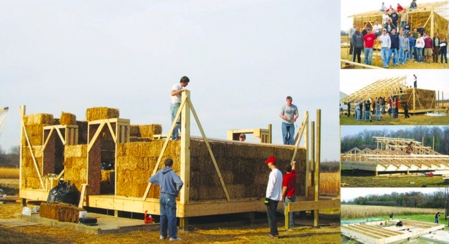 la fabricación de casas de alpacas de pajas es una alternativa barata y sostenible. 1