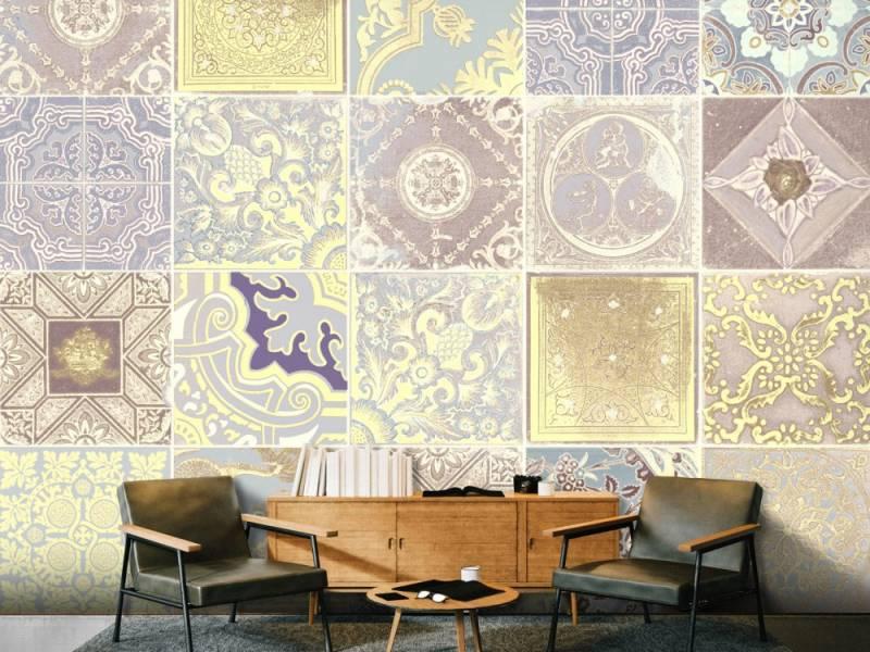 Un universo de texturas visuales en el papel pintado para decorar paredes 2