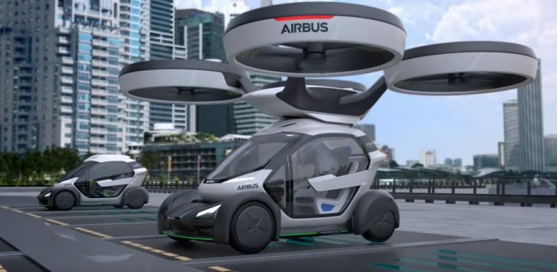El Coche Dron de Airbus evitará los atascos 1