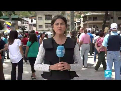 caracas simpatizantes de guaido - Caracas: simpatizantes de Guaidó acuden a los cuarteles
