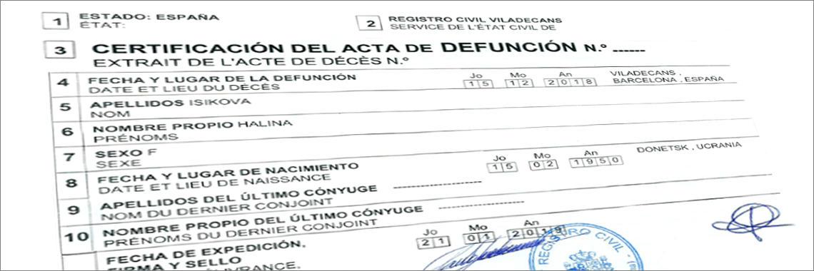 solicitar certificado de defunción online