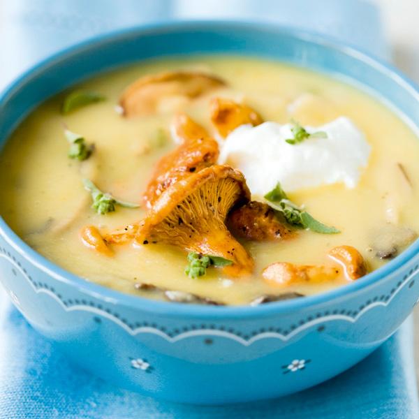 crema patatas - recetas con setas