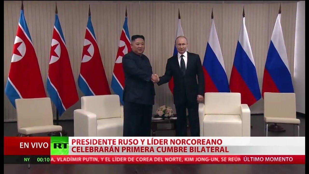 cumbre kim jong un y vladimir pu - cumbre Kim Jong-un y Vladímir Putin