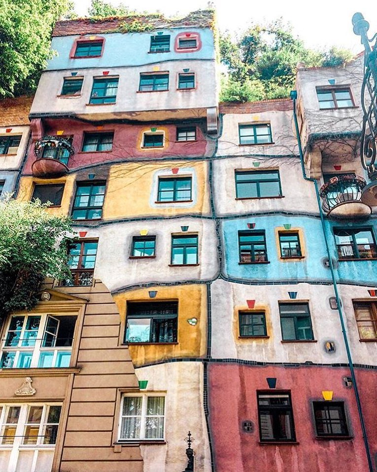 las casas de colores: Hundertwasserhaus, en Viena 3