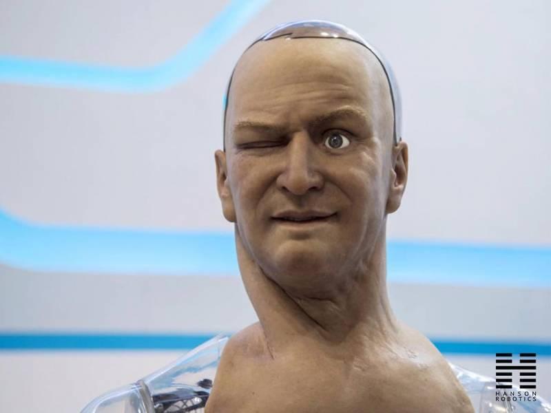 robot con piel: Han, de Hanson Robotics 2