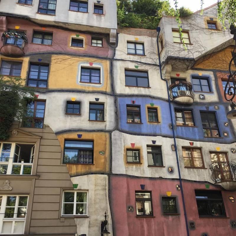 las casas de colores: Hundertwasserhaus, en Viena 5