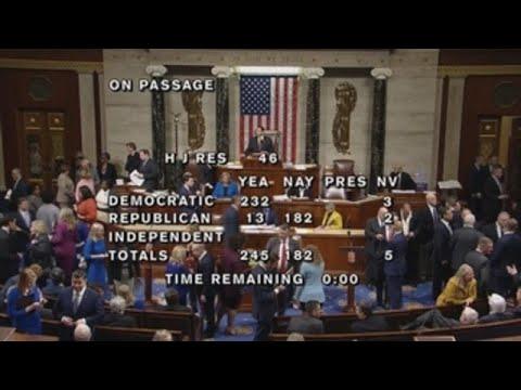 la camara baja de ee uu rechaza - La Cámara Baja de EE.UU. rechaza emergencia nacional de Trump