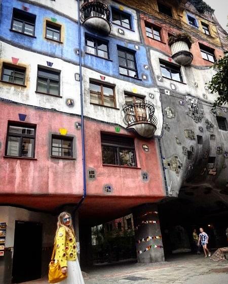 las casas de colores: Hundertwasserhaus, en Viena 1