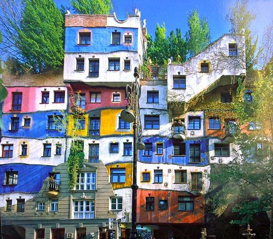 las casas de colores: Hundertwasserhaus, en Viena 2