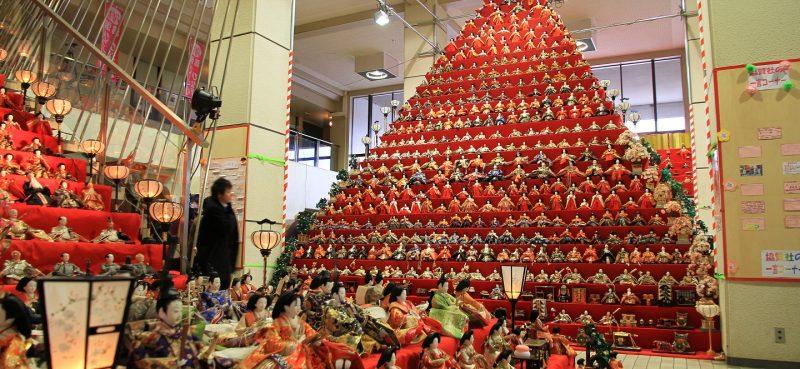 Hinamatsuri es un Festival de Muñecas en Japón