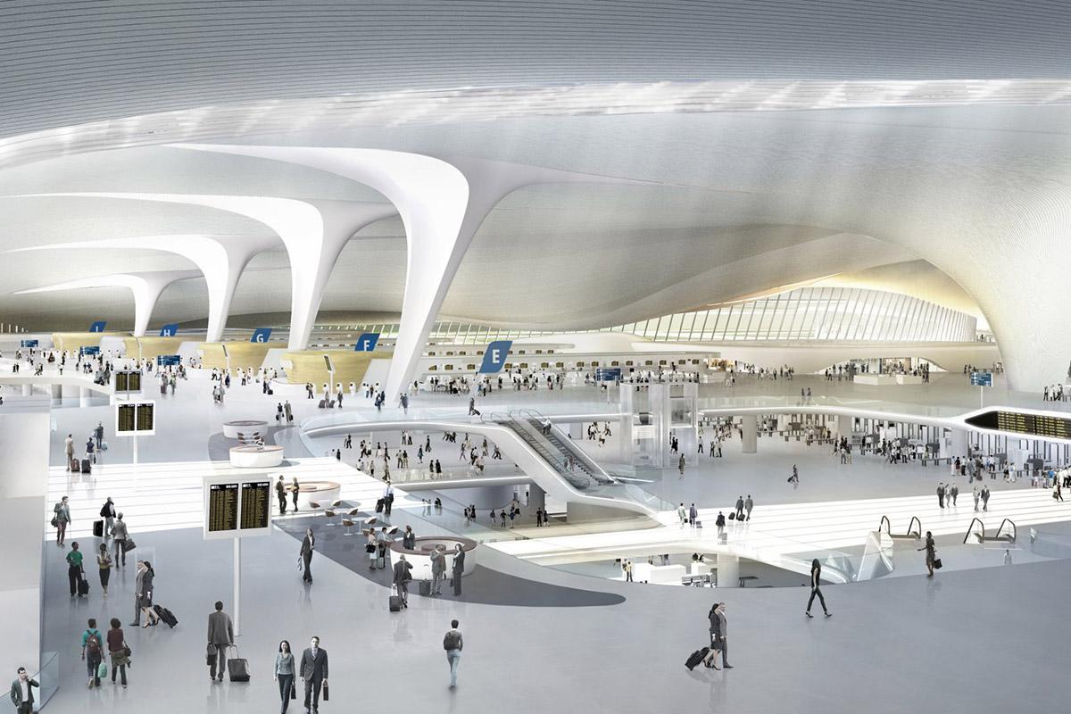 nuevo aeropuerto de beijing 1 - CHINA NOTICIAS INTERNACIONALES - Aeropuertos Futuristas y Conflictos