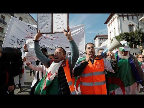 protestas en argelia - protestas en Argelia